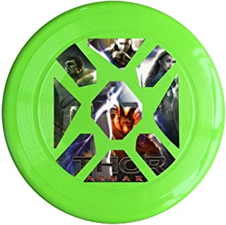 YQUE56 Unisex Hero Film Poster Outdoor Game Frisbee Game Room Yellow