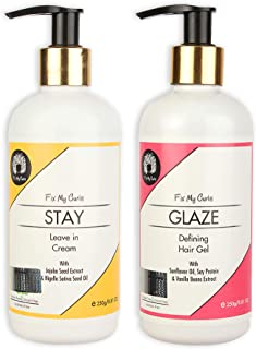 Fix My Curls Glaze Hair Gel With Stay Leave In Cream For Styling Pack, 250g each
