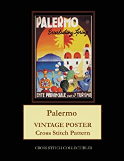 Palermo: Vintage Poster Cross Stitch Pattern