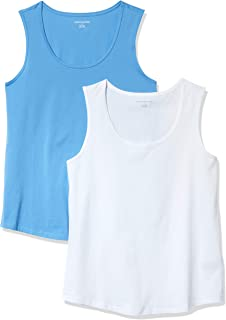 Amazon Essentials Women's 2-Pack Classic-Fit 100% Cotton Sleeveless T-Shirt
