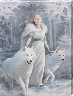 Small Winter Guardian Canvas Picture By Anne Stokes