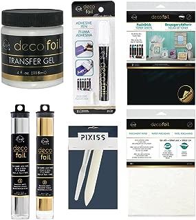 Foil Transfer Accessory Bundle Transfer Gel, Parchment Paper, Deco Foil Adhesive Pen, Deco Foil Peel N Stick Toner, Palette Knife, Bone Folder, Silver and Gold Foils