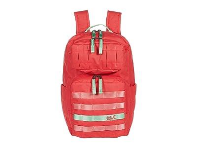 Jack Wolfskin Kids Little TRT Daypack (Big Kids) (Tulip Red) Backpack Bags
