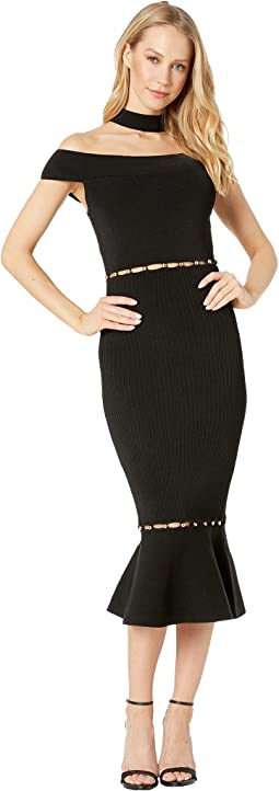 Lara Button Detail Cut Out Dress