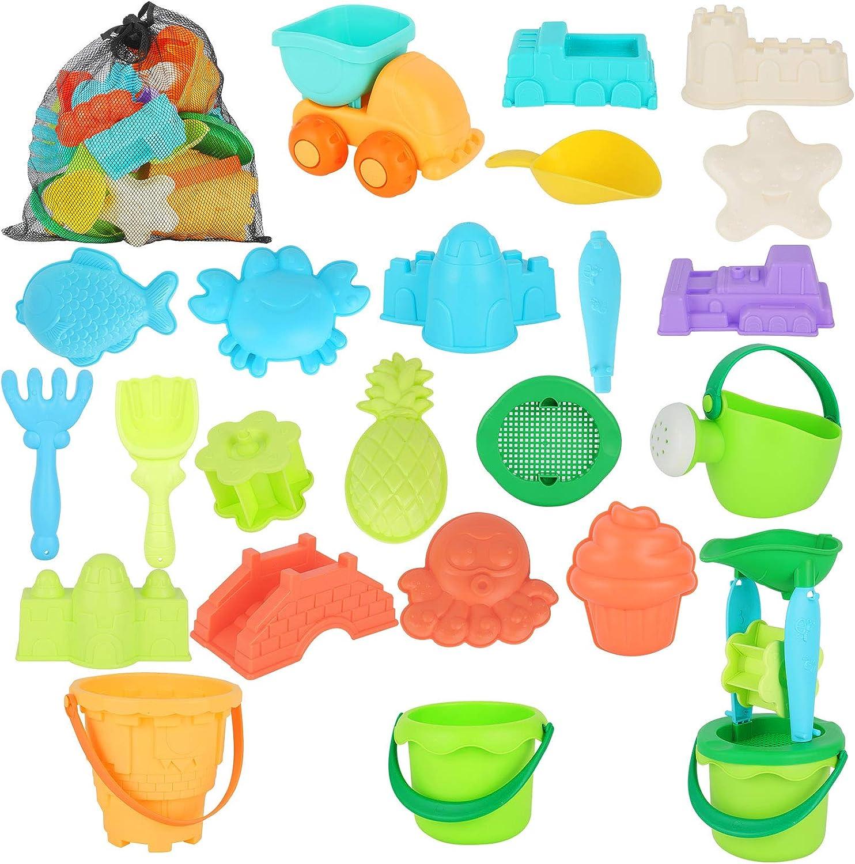 LYLYFAN Beach Max 69% OFF Sand Toys Set for Outdo Kids 1 year warranty 24pcs