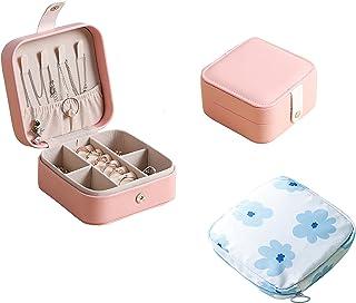 صندوق مجوهرات من واتواشي وحقيبة مكياج، حقيبة صغيرة، حقيبة سفر، حقيبة سفر صغيرة محمولة من جلد البولي يوريثان وحقيبة أدوات ت...