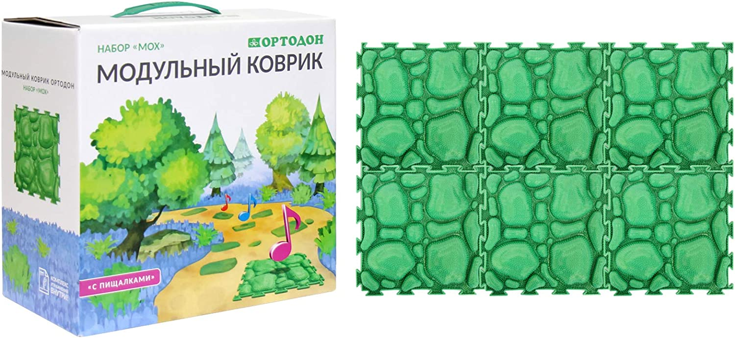 Moss New product!! Modular Mat with Ranking TOP16 Squeakers Game of Massage Sensory Set