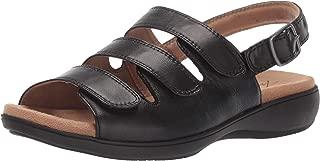 Trotters Women's Vine Sandal, Black, 6.5 2W US