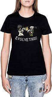 Evolve This!! Negro Camiseta Mujer Manga Corta Black T-Shirt Women's