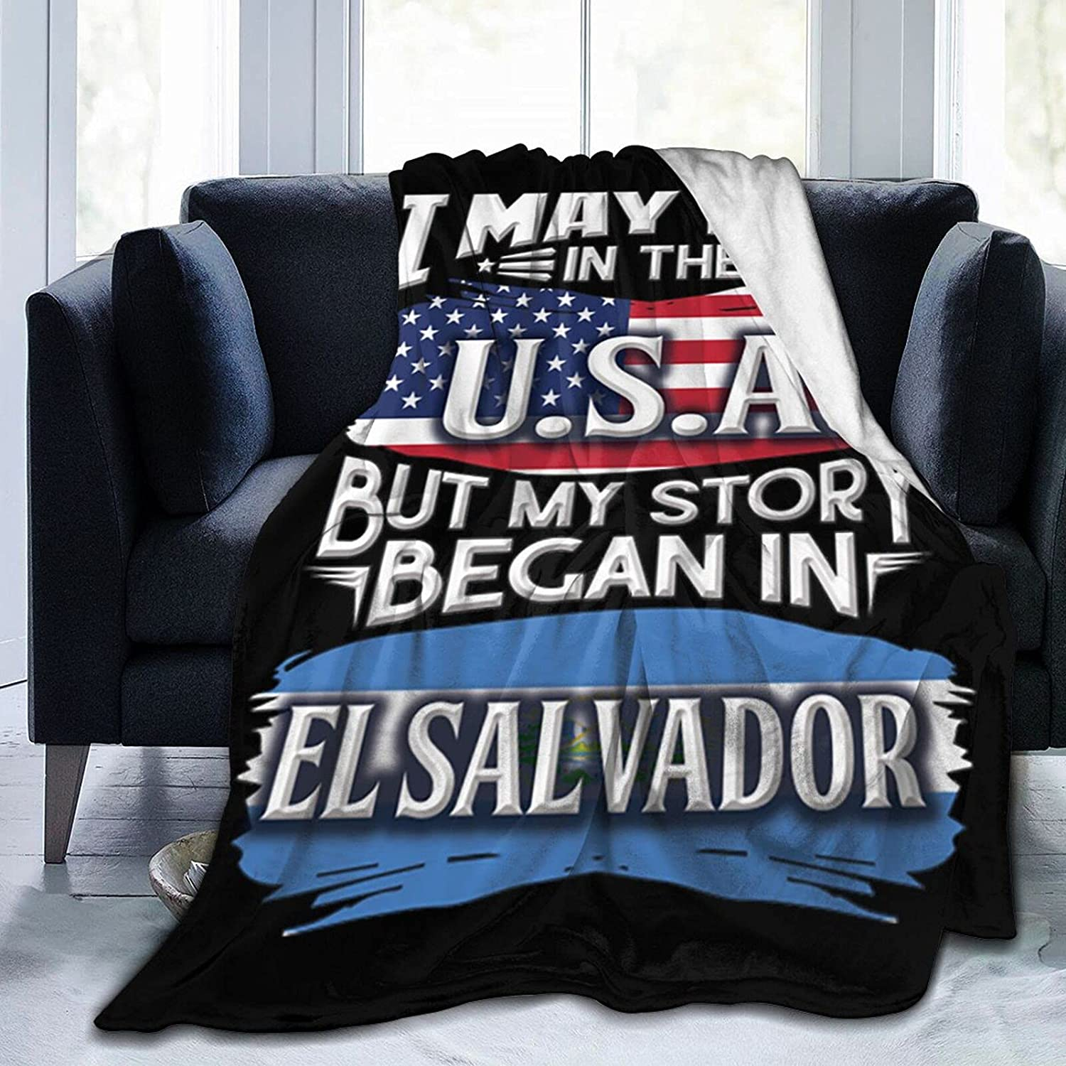 Live in Arlington Mall Over item handling ☆ The USA But My Began Blanket Salvador El Throws Story