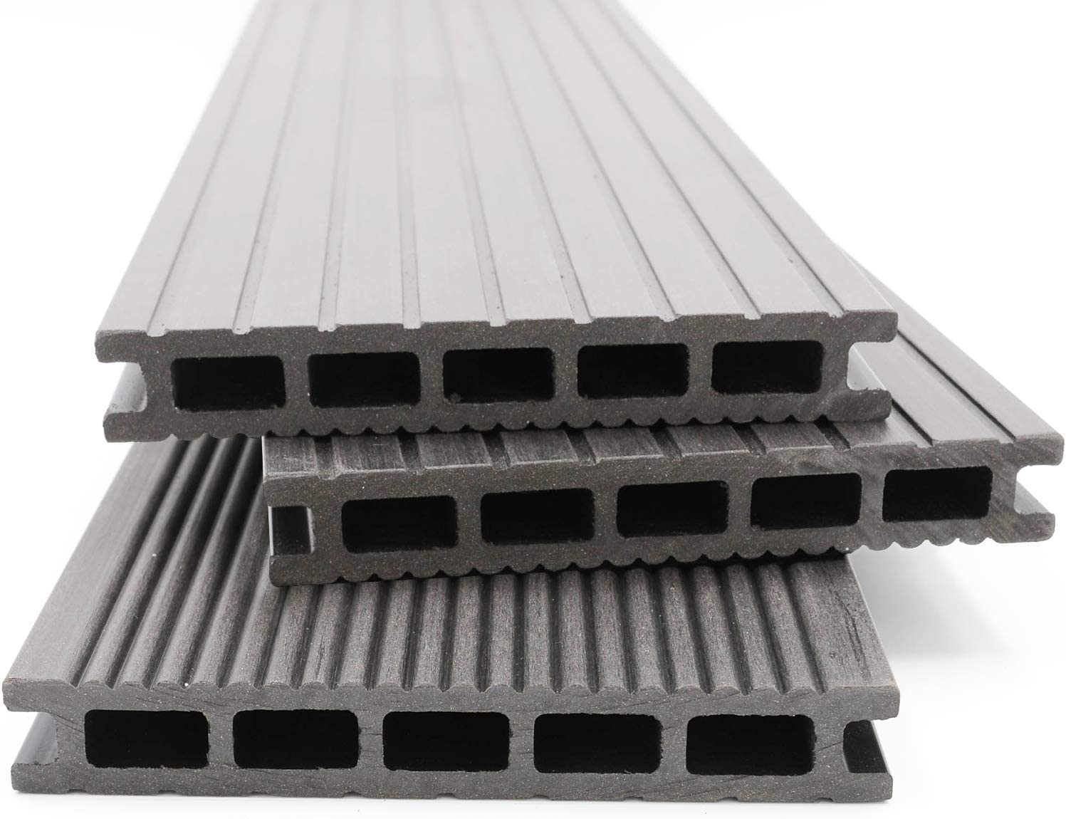 40x60 mm Unterkonstruktion /& Clips I Dielenl/änge 5,00 m I Fl/äche 42 m/² HORI/® WPC-Terrassendielen massiv braun I Komplett-Set inkl