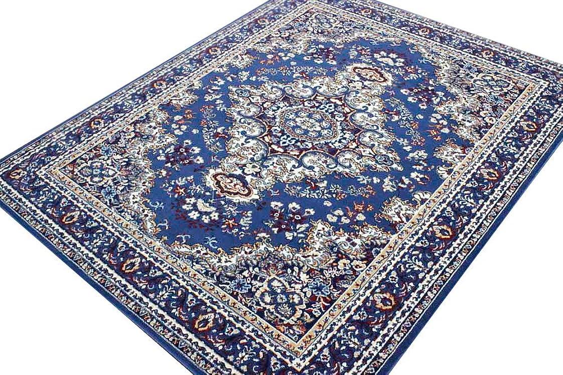 人口不良品均等にベルギーカーペット ラグ クラシック 絨毯 【SHIRAZ4-1670】 約6畳 240×330cm ブルー