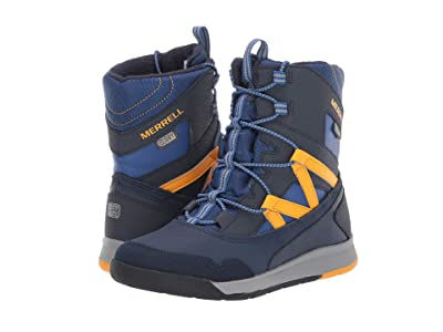 Merrell Kids Snow Crush Jr Waterproof (Little Kid/Big Kid) (Navy/Saffron) Boys Shoes
