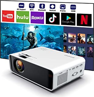 SOTEFE® Android WiFi Projector Portable - Wireless Mini LED Video Projector 1080P Full HD Projector Support 4K Download Ap...