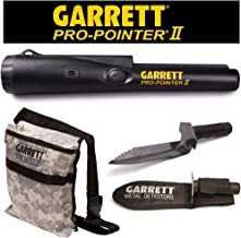 Garrett Pro Pointer II Two Metal Detector Pinpointer with Camo Digger's Pouch and Edge Digger
