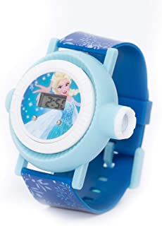 Disney Frozen Girls Digital Dial Projection Flashlight Light 10 Images Projection Wristwatch - TRHA1975