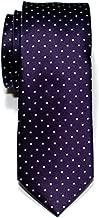 Retreez Pin Dots Woven Microfiber Skinny Tie Necktie - Various Colors