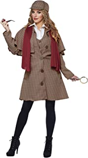 California Costumes Women's Extra Large, TAN/RED, Lady Sherlock/Adult
