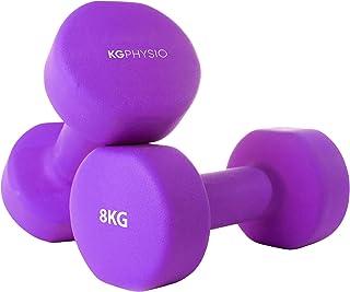 Neopreen halters set van 2 A3 posters inbegrepen. 1-10 kg gewichten voor mannen en vrouwen