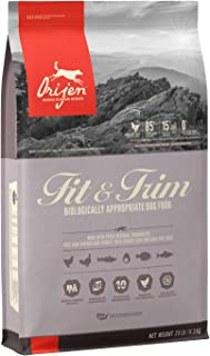 ORIJEN Fit & Trim High-Protein, Grain-Free, Premium Animal Ingredient, Adult Dry Dog Food