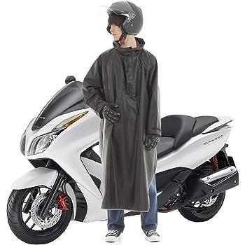 GUYMU レインコート レインポンチョ スクーター バイク 自転車 (ブラック)