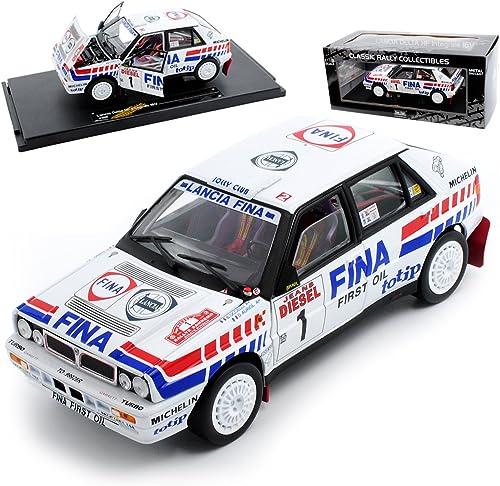 Sun Star Lancia Delta InteGröße Rally Weißs Auriol Gewinner Rallye Sanremo 1991 1 18 Modell Auto mit individiuellem Wunschkennzeichen