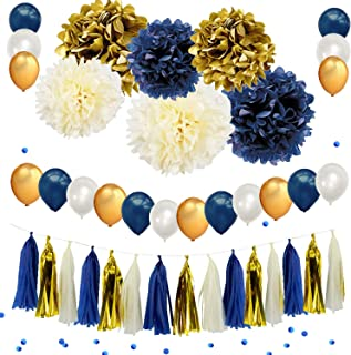 Best gold and navy blue centerpieces Reviews
