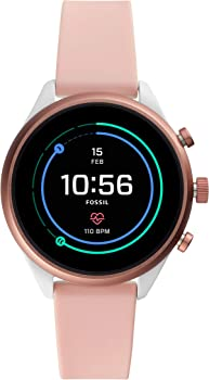 Fossil Women's Sport Metal and Silicone Touchscreen Smartwatch