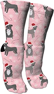 antspuent Pitbull Candy Christmas Ice Unisex Long Cotton Compression Socks with Funny Patterned for Ski, Softball and Hockey Athletic