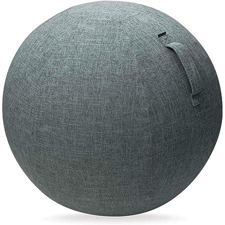 エレコム バランスボール カバー 65cm 持ち運びに便利なハンドル付き グレー HCF-BBC65GY