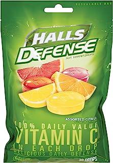 Halls Defense Vitamin C, 30-count (Pack of 6)