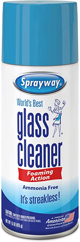 Sprayway SW053R Ammonia Free Glass Cleaner Foaming Action Streakless Shine 15 Oz