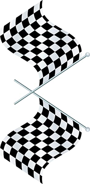 Design With Vinyl Top Selling Decals Prices Reduced Auto Motorcycle Racing Flag NASCAR Black White Checkered Race Car Championship Winner Boy Kids Wall Sticker Size 12 Inches X 24 Inches