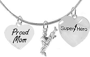 Martial Arts, Kickboxing Jewelry, Karate Jewelry, Super Hero, Proud Mom, Martial Arts Jewelry Adjustable Necklace Hypoallergenic, Safe-Nickel, Lead Free