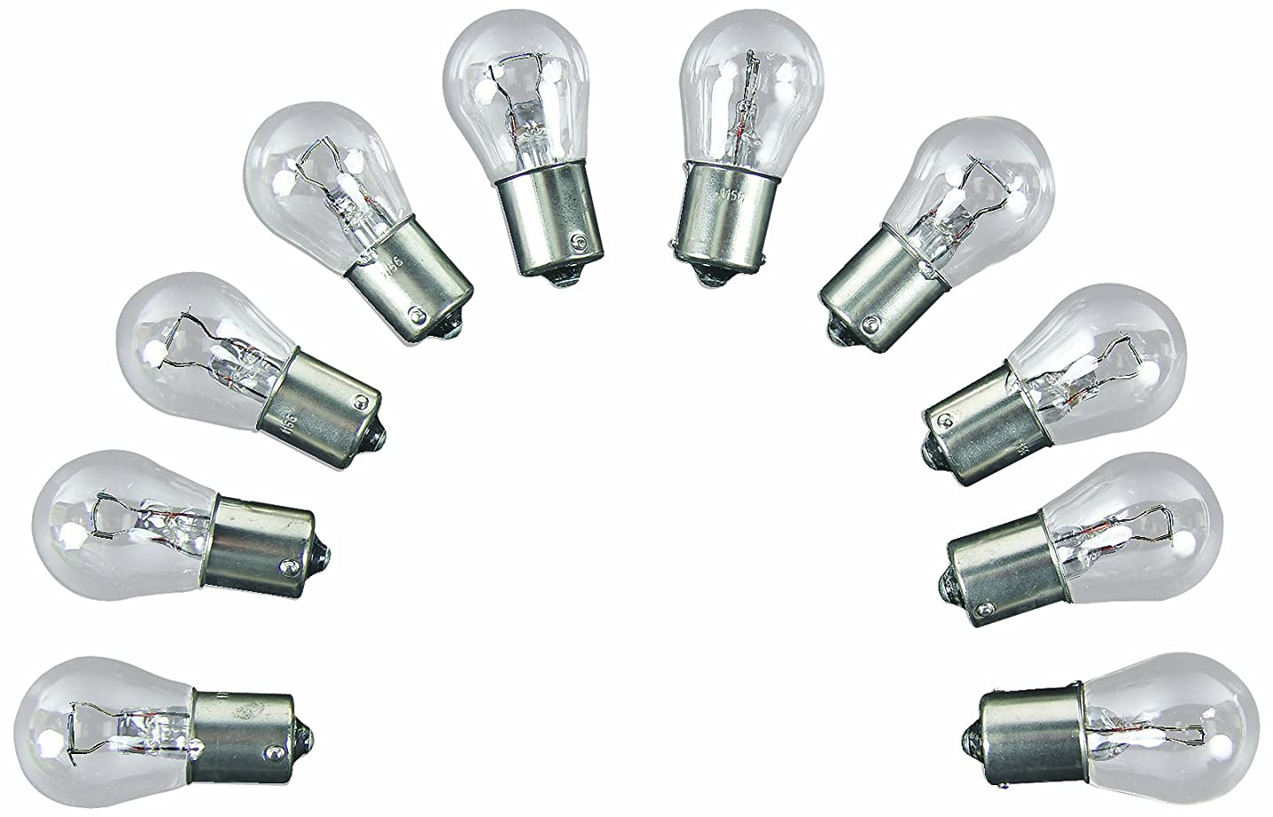 Camco 54802 Replacement 1156 Auto Back Up Light Bulb - Box of 10