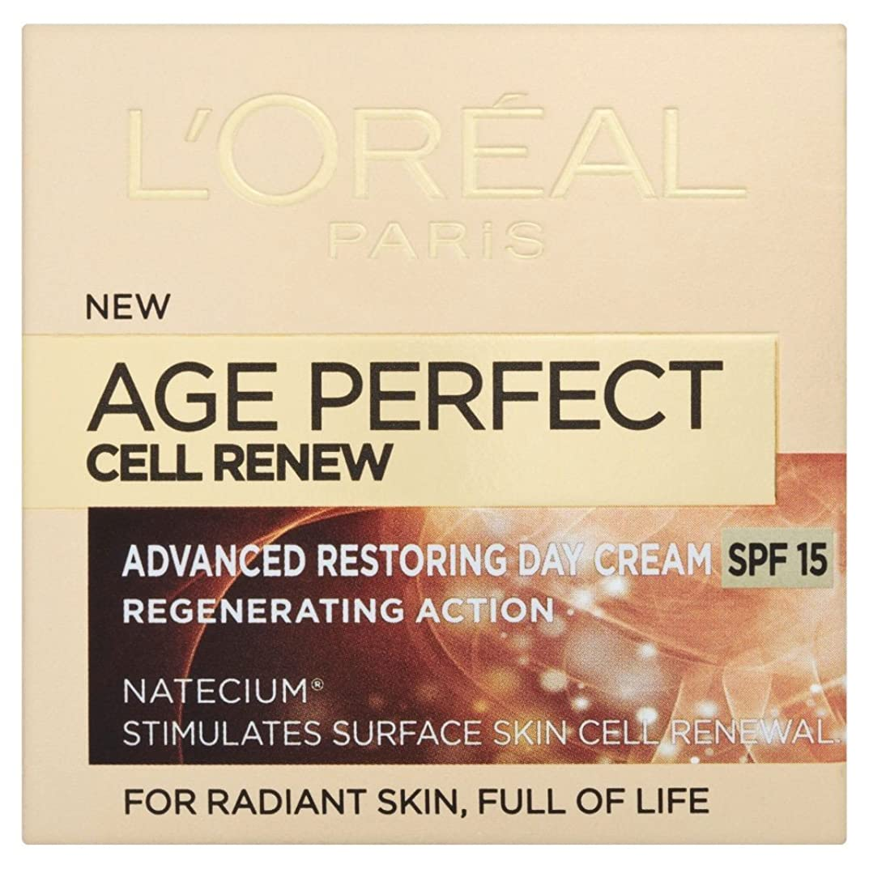 ショット次へ防水L'Oreal Paris Age Perfect Cell Renew Day Cream (50ml) デイクリームを更新l'オラ?アルパリ時代の完璧なセル( 50ミリリットル) [並行輸入品]