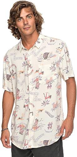 Quikargent Aloha Strip Club - Chemise à Manches Courtes pour Homme EQYWT03646