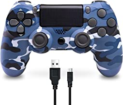 $35 » Wireless Controller for PS4, BOHASH Game Controller for Playstation 4 with Dual Vibration and Charging Cable, Remote Contr...