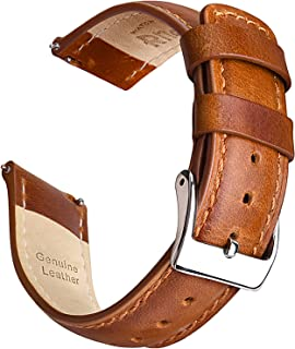 بندهای ساعت چرمی Ritche Quick Release-18mm 20mm 22mm Top Grain Leather Watch بند