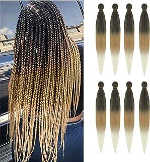 AQINBEL Pre stretched Braiding Hair 26 Inches -8 Bundles Itch Free Synthetic Fiber Crochet Twist Braids Yaki texture Braid...