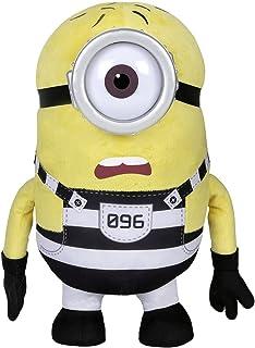 Despicable Me 9080 - Peluche de Minion Carl Vestido de presidiario, de la película GRU: Mi Villano Favorito 3