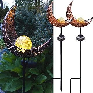 rusty metal garden stakes