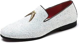 Mens Smoking Slipper Party Fringe Glitter Dress Shoes...