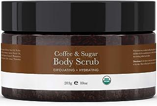 Organic Coffee Body Scrub - Sugar Scrub Hydrating Exfoliating Body Scrubs for Women & Men, Body Exfoliator and Polish for ...