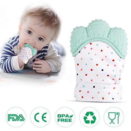 Baby Chew Toys Teething Self Soothing Pain Relief Teether Toy Mitt Glove For