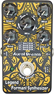 Aural Dream Legend Formant Synthesizer Guitar Effects Pedal with 9 Human Vowels,4 Resonance modes and transition voice based on expanding wah similar to