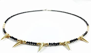 Black Spinel Spike Choker