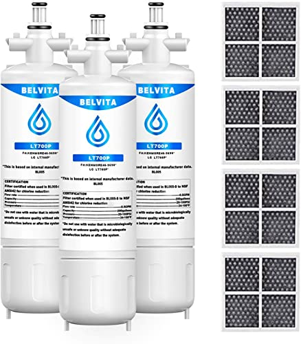 new arrival LT700P Water sale Filters for Refrigerator, NSF 42 Certified Compatible with IG LT700P, ADQ36006101, DQ36006102, 9690, 46-9690, outlet sale and LT120F Air Filter ADQ73214404 (3-Pack) sale