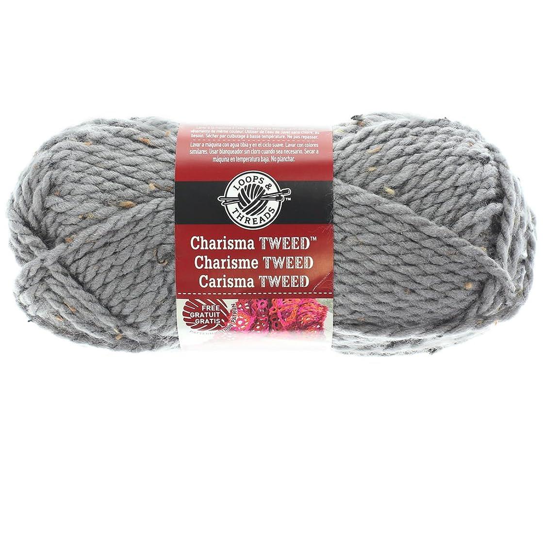 Loops & Threads Charisma Tweed Yarn Gray 3oz