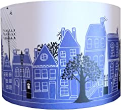 ROYAL BLUE STREET LAMPSHADE by MOLLYMAC | Contemporary House Design | Street Scene | Home Sweet Home | 12